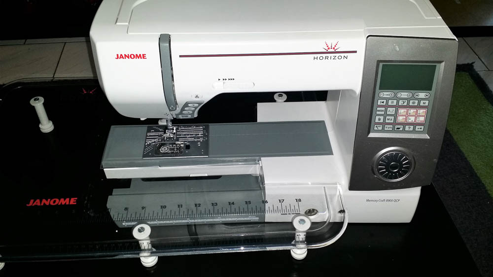 Janome Horizon 8900 QCP, a great machine for quilters!