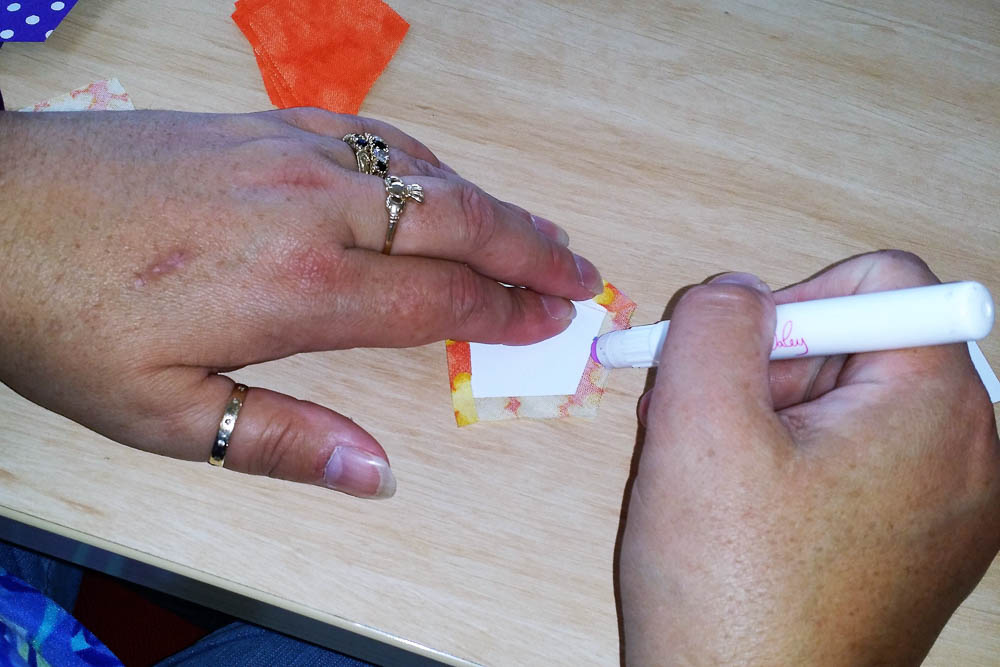 English Paper Piecing - using glue stick