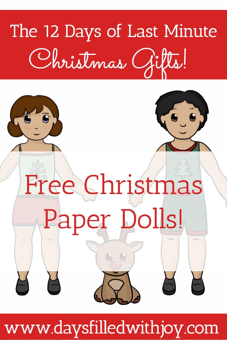Free Christmas Paper Dolls!