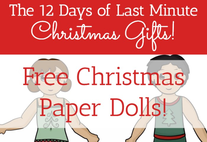 Free Christmas Paper Dolls!