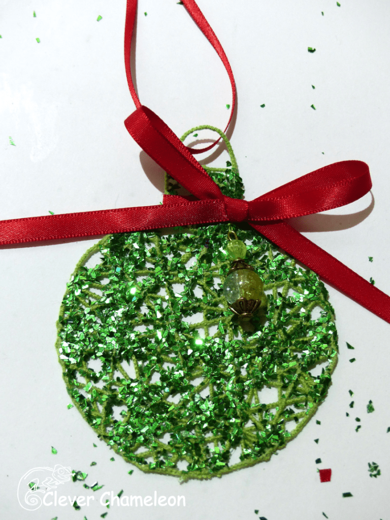 Green Bauble Bow