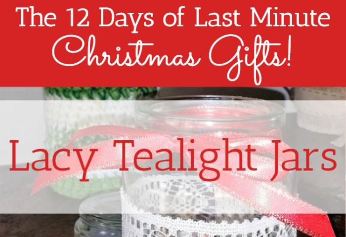 Lacy Tealight Jars