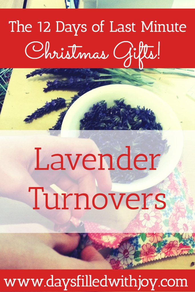 Lavender Turnovers - a tutorial - a quick and easy gift using a charm square and lavender! You can make these in less than 5 minutes!