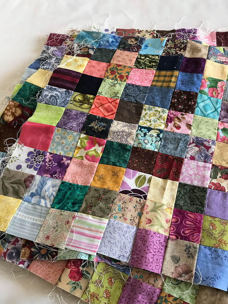 100 patch blocks - every square is a different piece of fabric!