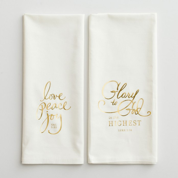Glory to God - Christmas Tea Towels, Set of 2