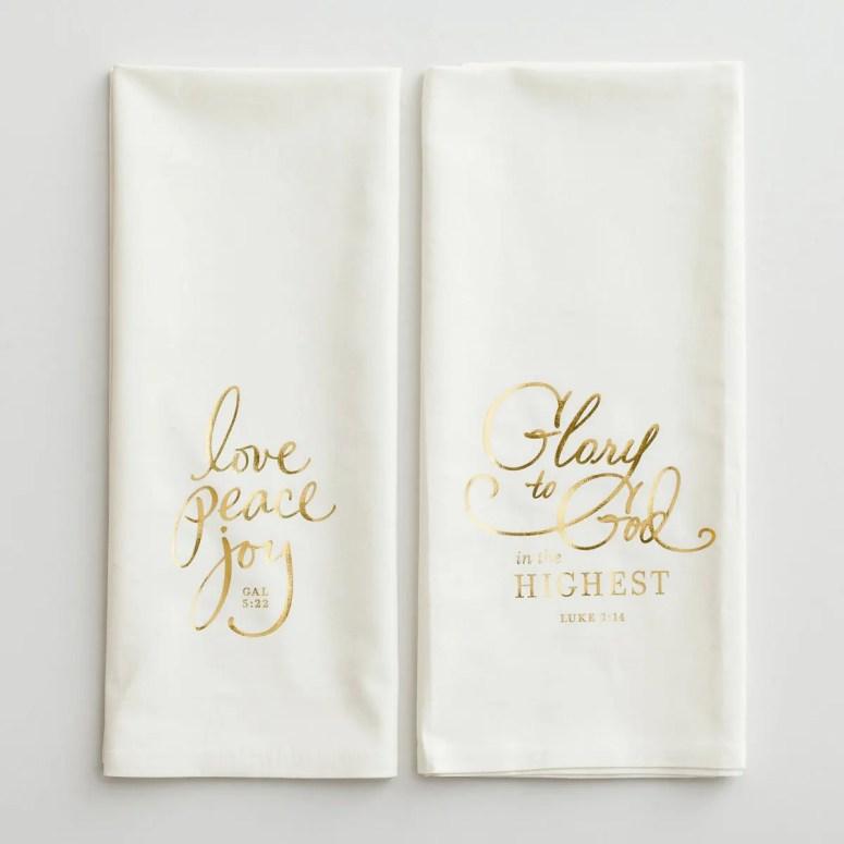 Glory to God - Christmas Tea Towels, Set of 2