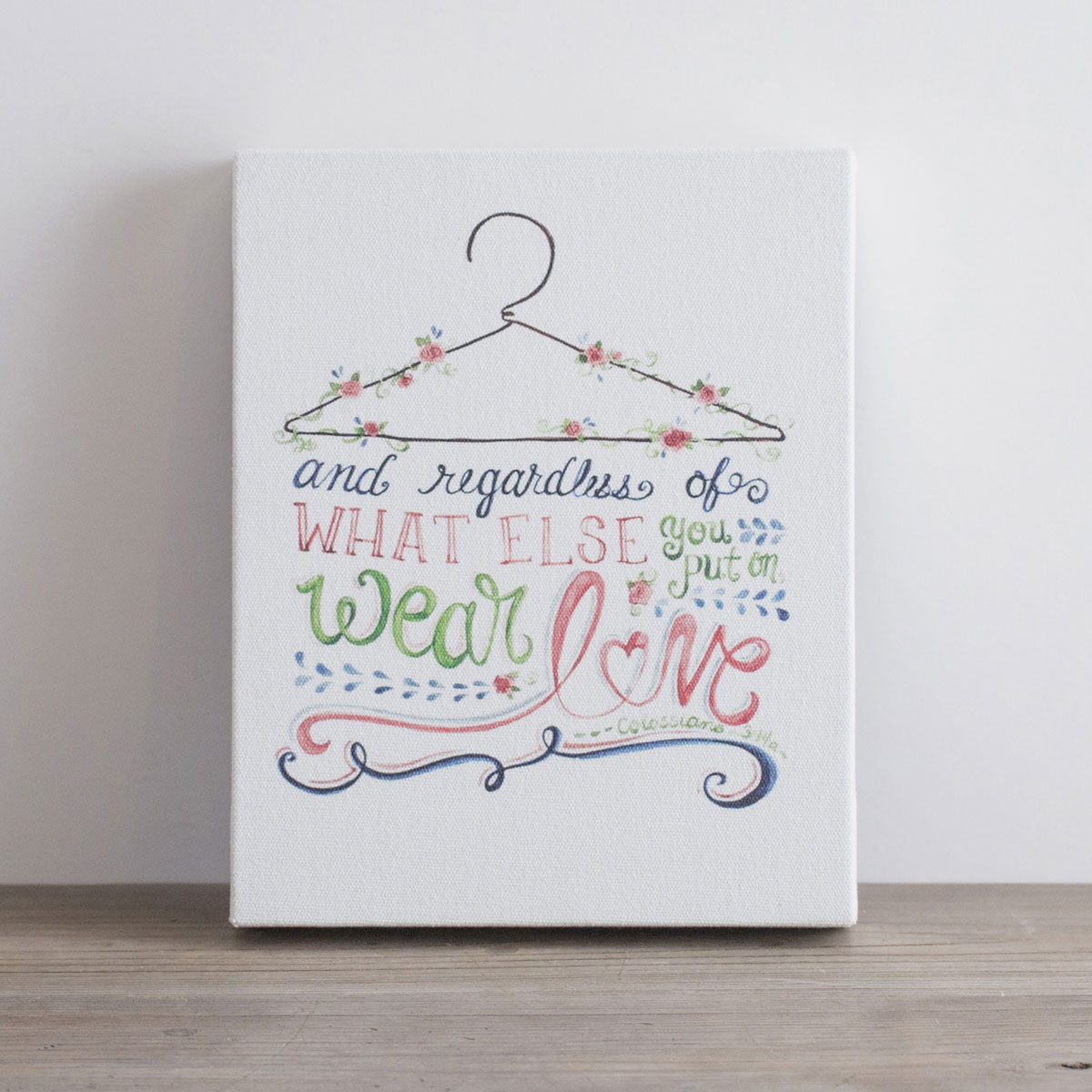 Wear Love - Printed Canvas Block