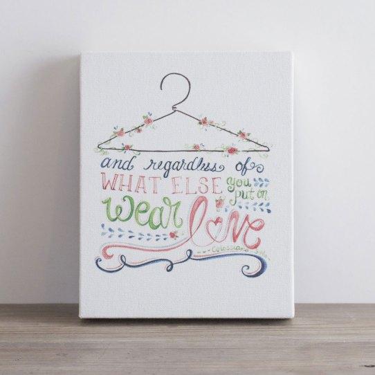 Wear Love - Printed Canvas Block