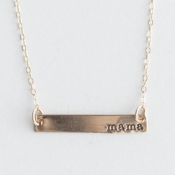Lisa Leonard - Gold Bar Mama Necklace