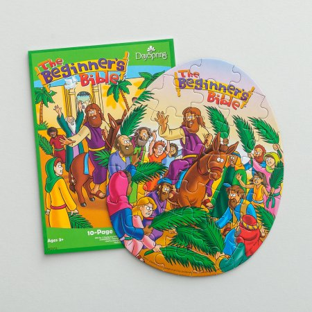 Easter Palm Sunday Beginner's Bible Egg Puzzle activity book Pad Set