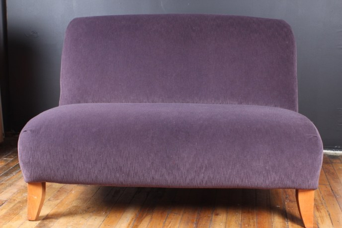 Purple Velour Loveseat