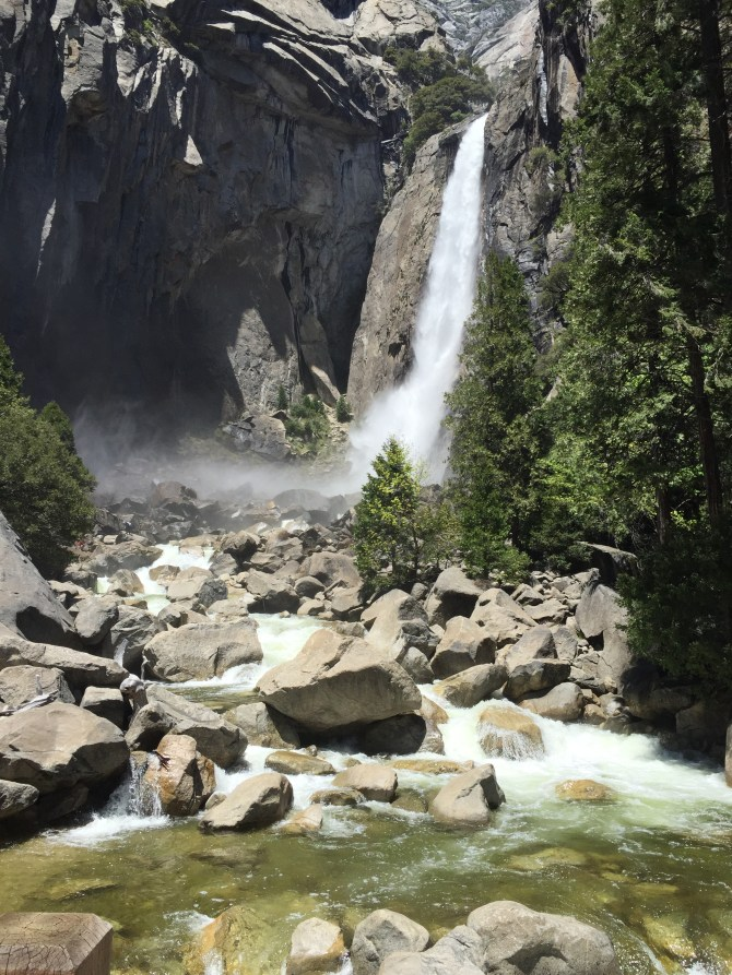 Lower Yosemite Falls. No sign of Yosemite Sam