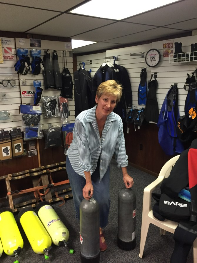 Barb at Randy's Dive Shop