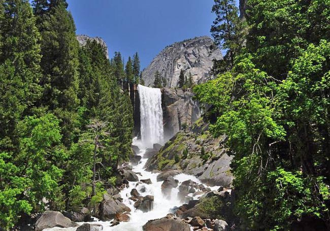 Vernal Falls in the springtime is spectacular