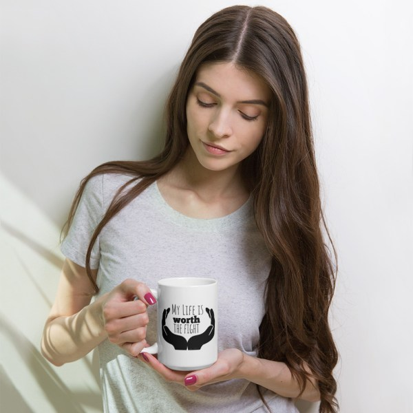 Dazzle4Rare White Gloss Coffee Cup