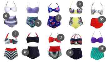 20 Of The BEST High Waisted Bikinis from Amazon Under $25
