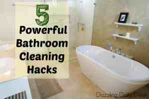 bathroom cleaning hacks