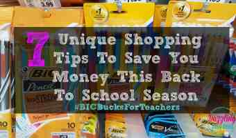 7 Unique Shopping Tips To Save You Money This Back To School Season #AD #BICBucksForTeachers