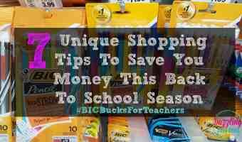 7 Unique Shopping Tips To Save You Money This Back To School Season #AD #BICBucksForTeachers