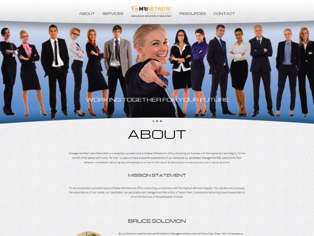 MRI Resources website by dba designs & communications - Denver, CO