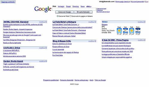 I Feed Rss con Google