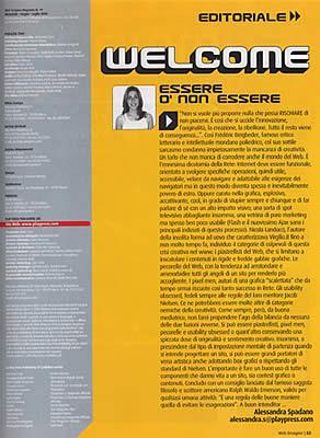 Alessandra Spadano su Web Designer magazine