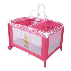 Dbebe Corral cuna de viaje zoo baby rosa