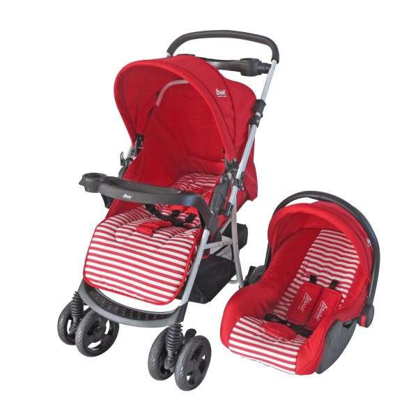 Dbebe carriola stripes multifunciones roja