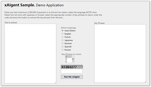 xAIgent Service Sample Online Demonstration