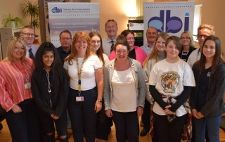 Young people visit Borders DBI