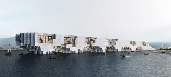 Commercial mixed-use - Kamran Heirati Architects - The Floating City, Salmanshahr, Iran / Livingetc