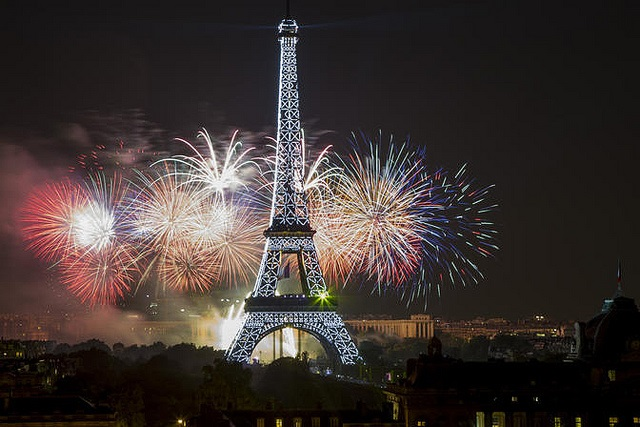 Photograph of Eiffel Tower on Bastille Day