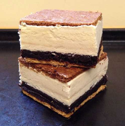photo of s'mores ice cream sandwich