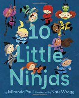 """Ten Little Ninjas"" book cover"