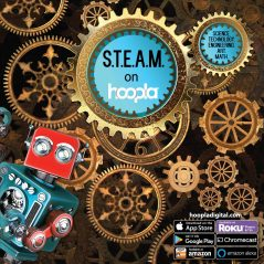 hoopla steam with gears and robot