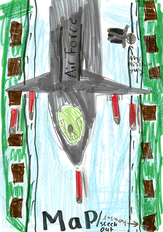 "Onyx Holzhauser, New Bloomfield Elementary - ""U.S. Air Force"" by Linda Bozzo"