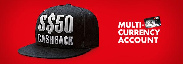 S$50 Cashback