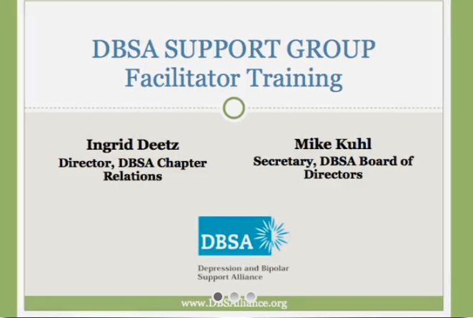 DBSA Training Videos