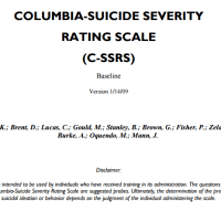 C-SSRS- Columbia Suicide Severity Rating Scale