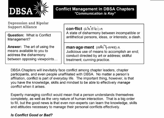 conflict management in dbsa chapters dbsa san gabriel valley rh dbsasgv org moving toward conflict guided reading answer key Moving towards Quotes