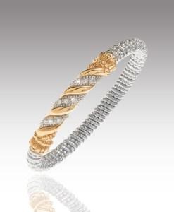 Diamond Twist Bangle