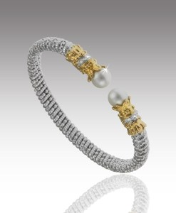 Pearl and Diamond Bangle