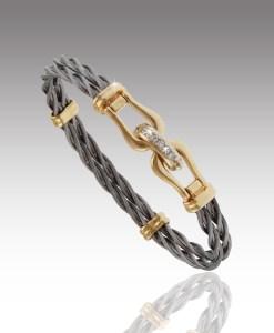 Double Shackle Cable Bracelet