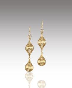 Crownwork Drop Finial Earrings