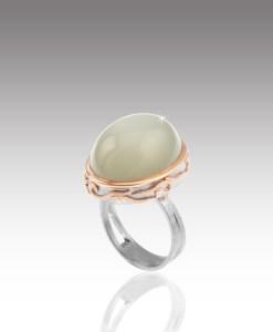 Palladium Moonstone Ring