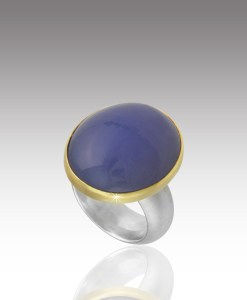 Chalcedony Cabochon Ring