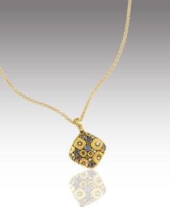 Sapphire Soft Mosaic Necklace