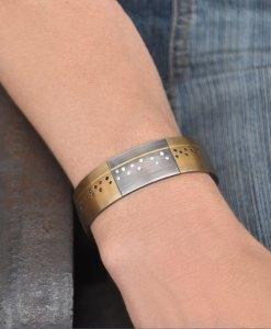 Bronze Black Diamond Cuff