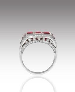 Ruby Bar Ring