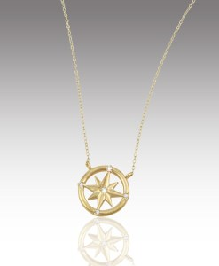 Small Compass Rose Necklace
